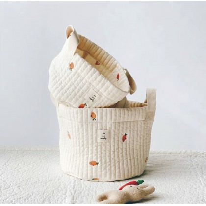 Baby Embroidery Quilting Basket 婴儿收纳篮