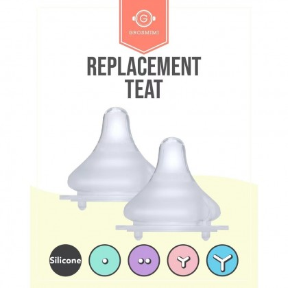 【Grosmimi】Replacement Silicone Nipple Teats